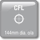 DOT Downlights - CFL Vertical - 144mm dia