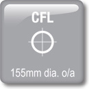 DOT Downlights - CFL Vertical - 155mm dia