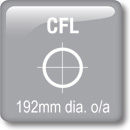 DOT Downlights - CFL Vertical - 192mm dia